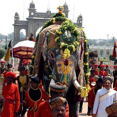 Jumboo Savari procession on Vijayadashami Day