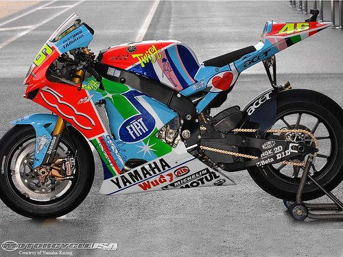 Moto de corrida da Yamaha