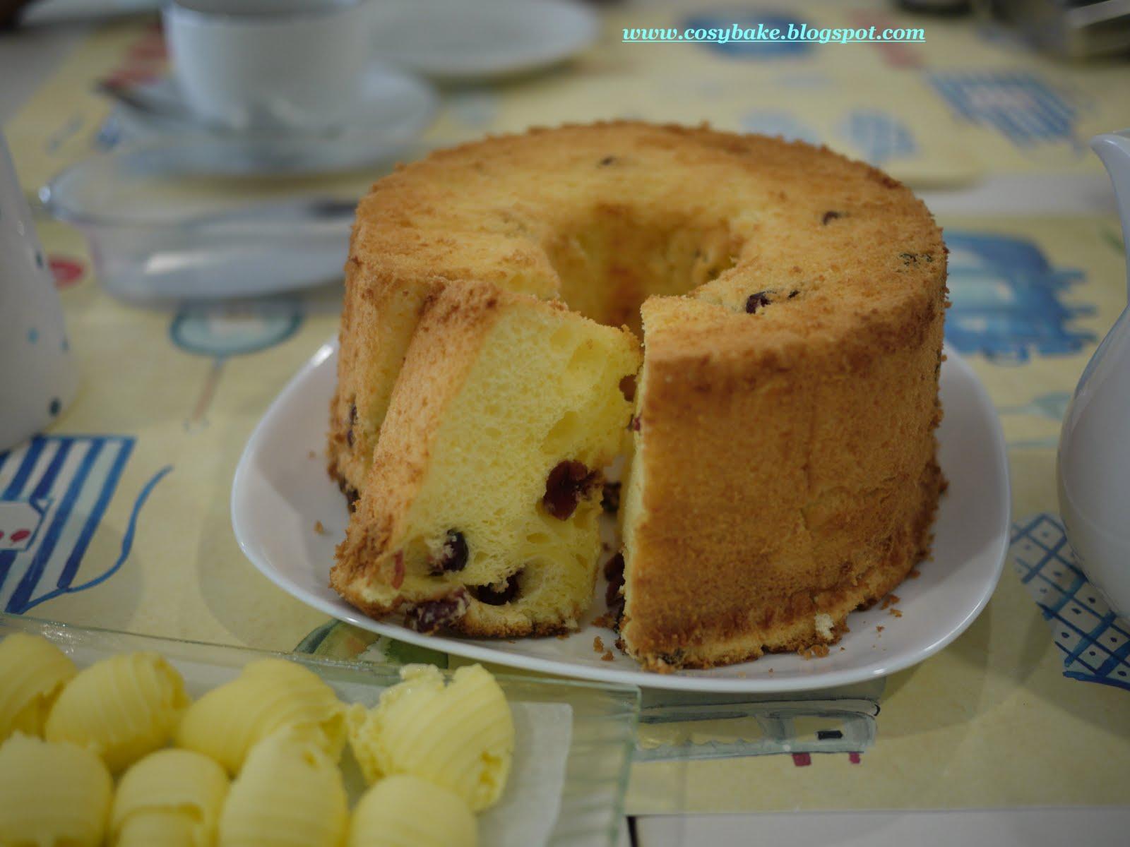 Cranberry Yogurt Chiffon Cake Recipe