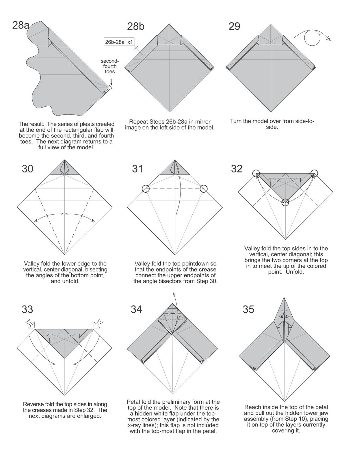 Membuat Origami T Rex