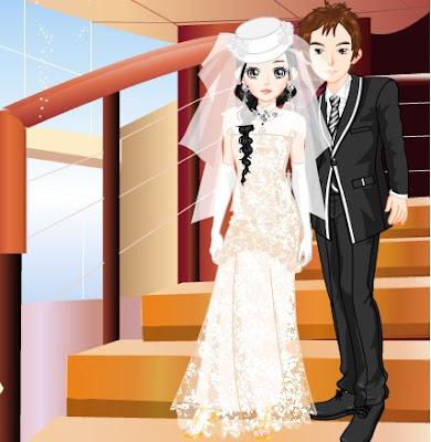 5d312c01fd Juego de vestir pareja de novios anime