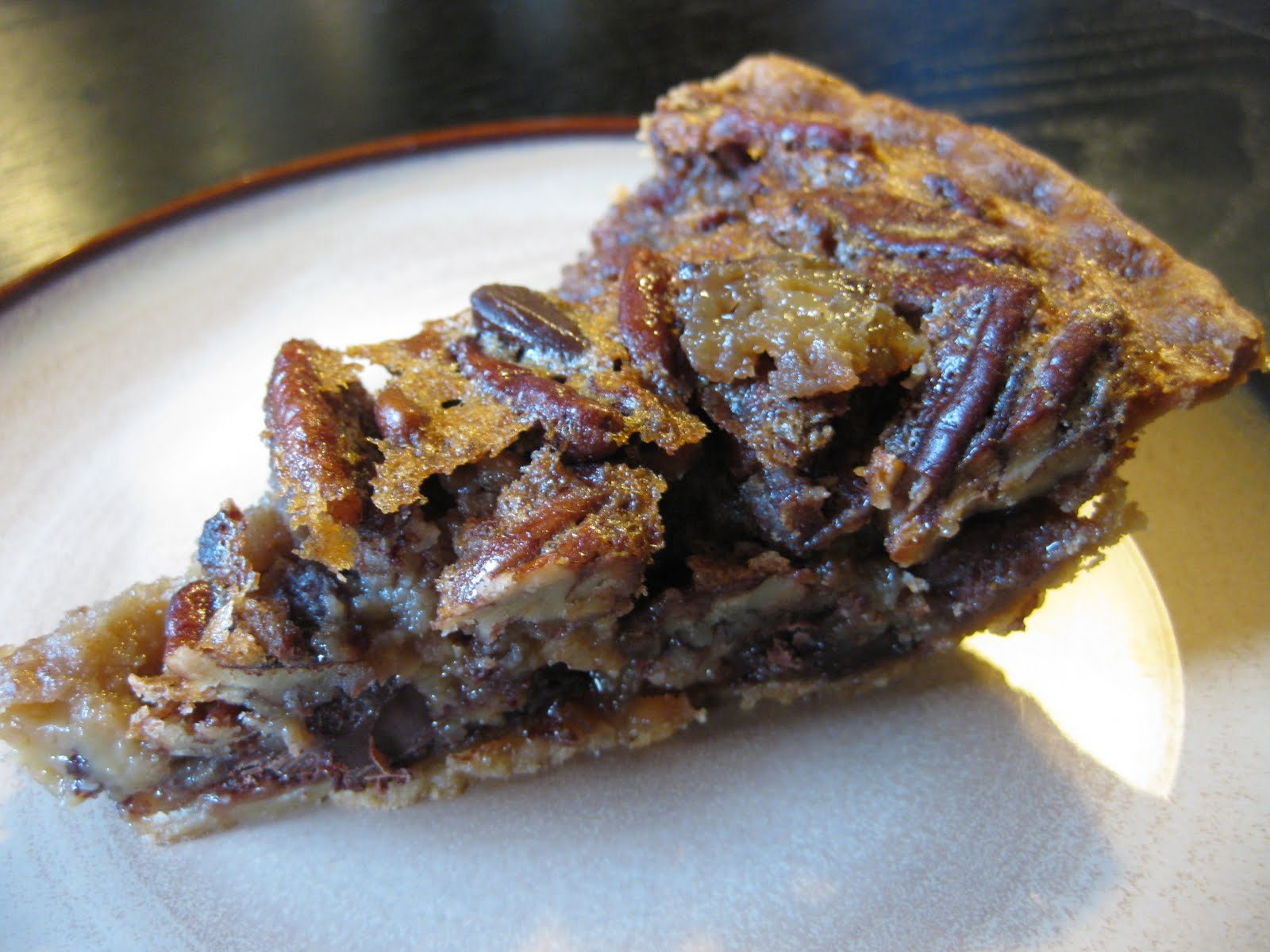 My Life On A Plate Chocolate Pecan Pie