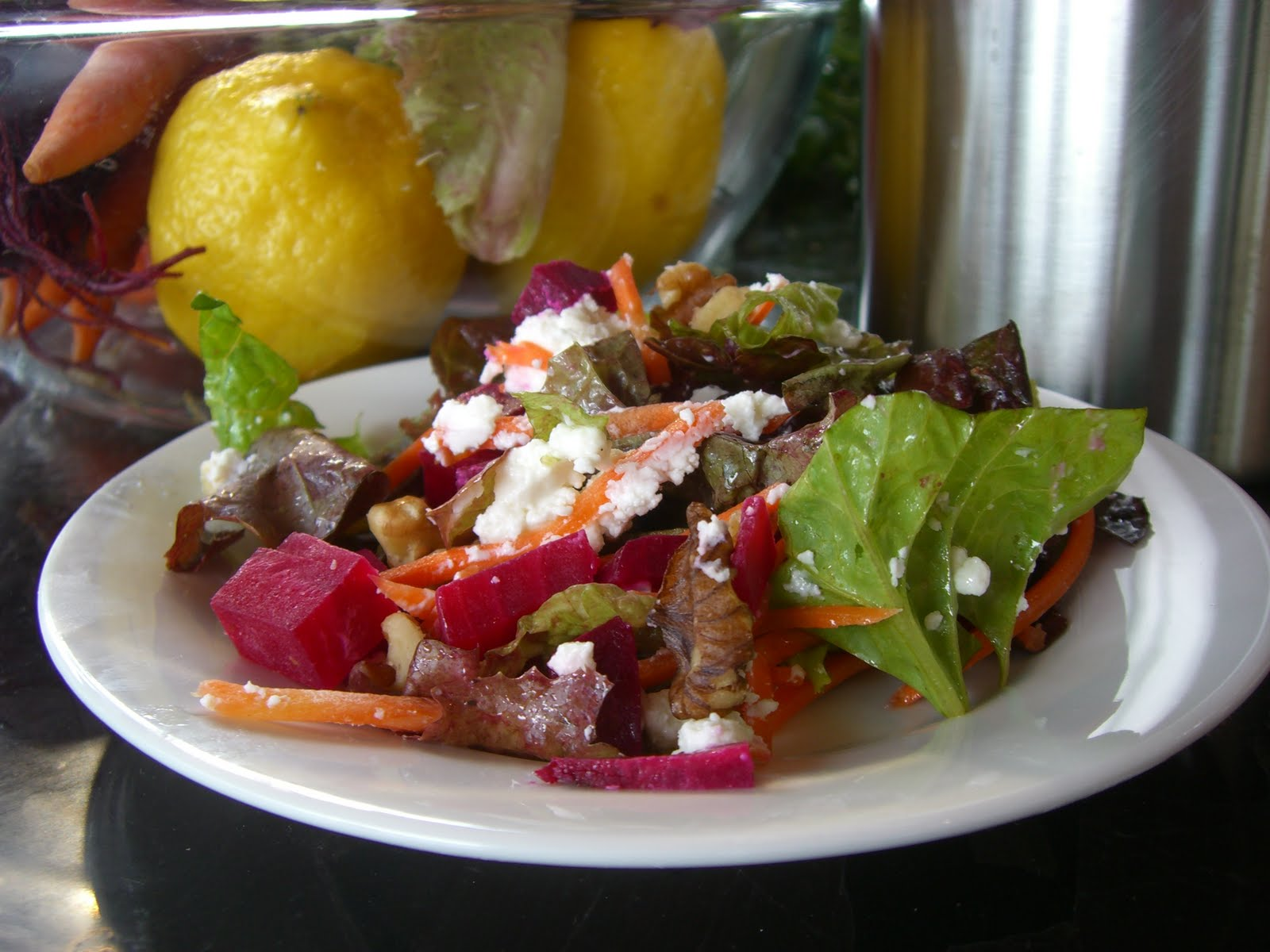 Chef Garden: Plant To Plate: Garden Greens Salad With Beets And Goat Cheese