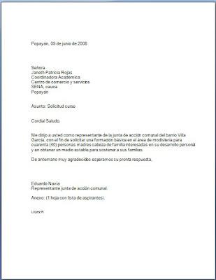 REDACCION Y ORTOGRAFIA Solicitud a la Coordinadora academica del sena