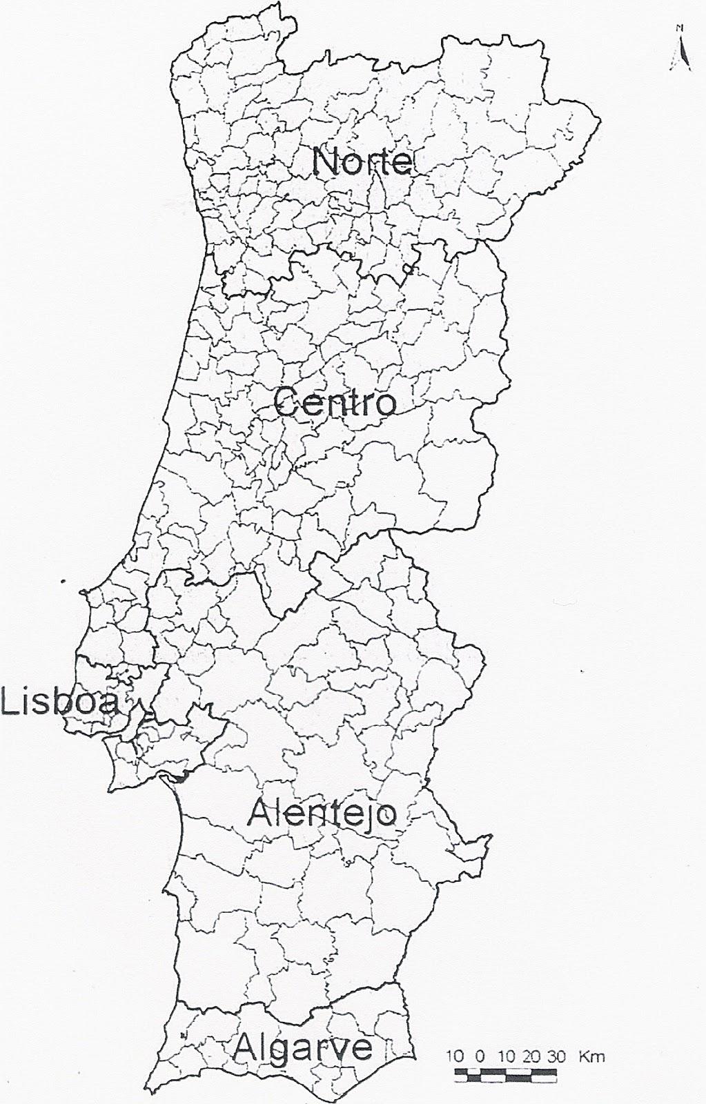 portugal concelhos mapa Mapa De Portugal Dividido Por Concelhos | thujamassages portugal concelhos mapa
