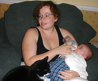 Molly with Melodie and Alex 2001