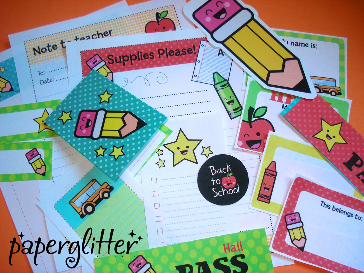 Back To School Treats And Printables
