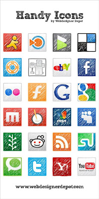 handy social bookmarking icons 75 Beautiful Free Social Bookmarking Icon Sets