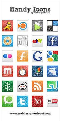 handy social bookmarking icons 75 Beautiful Free Social Bookmarking Icon Sets