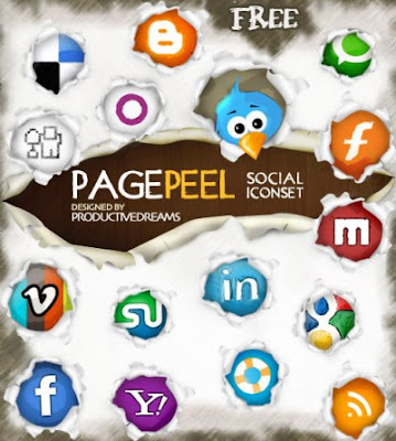 pagepeel free social bookmarking icons 75 Beautiful Free Social Bookmarking Icon Sets