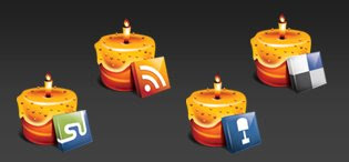dellicake social media icons 75 Beautiful Free Social Bookmarking Icon Sets