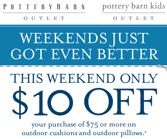 In addition to coupons and promo codes, they have discounted items at Pottery Barn Outlet store. Free shipping is available at Pottery Barn on hundreds of items, including sale. Shoppers can easily save up to 75% off on the Pottery Barn Sale page with free shipping on select items.