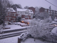 The scene this morning at 7.30