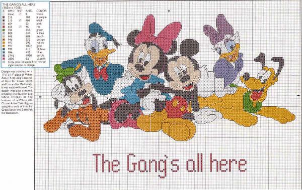 Lo spazio di lilla 39 a gentile richiesta 39 topolino for Punto croce bambini disney