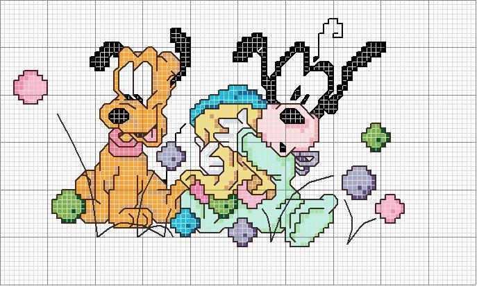 Lo spazio di lilla 39 a gentile richiesta 39 topolino for Disegni punto croce per bavaglini