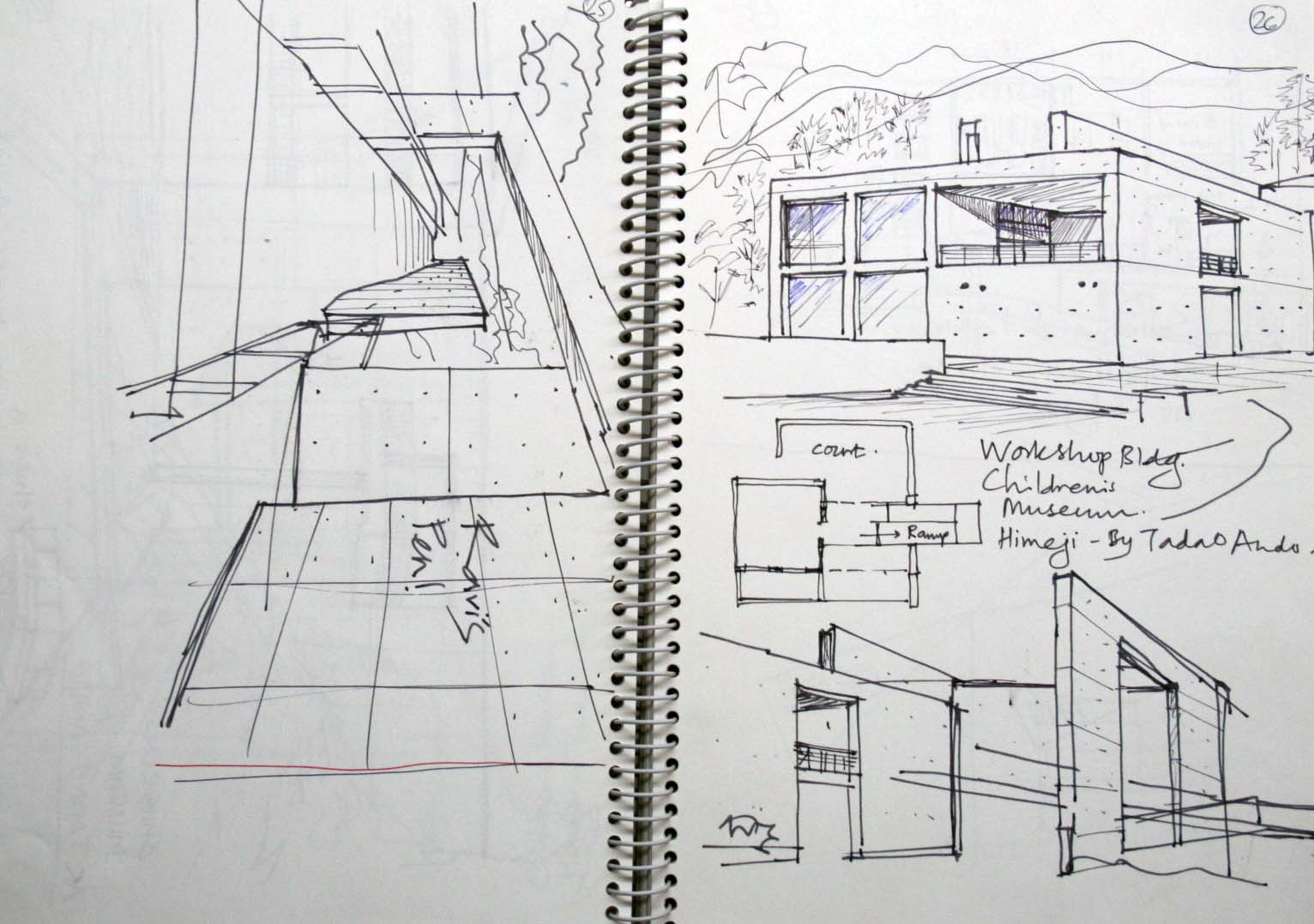 some more tadao ando sketches. | Urban Sketchers Vermeer Tx S Wiring Diagram on