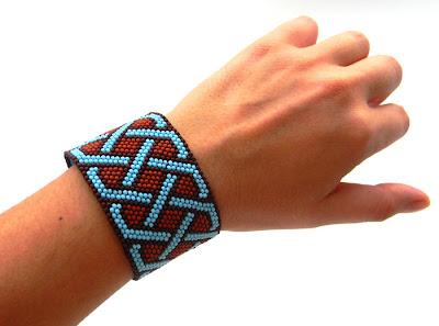купить заказать Украина анабель украшения ручной работы браслет из бисера с кельтским орнаментом Anabel