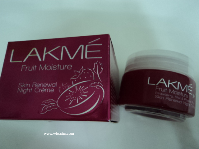 Lakme fruit moisture strawberry kiwi passion skin renewal night cream review,