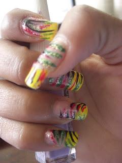 Hitchbitchxox Bob Marley Inspired Nail Tutorial