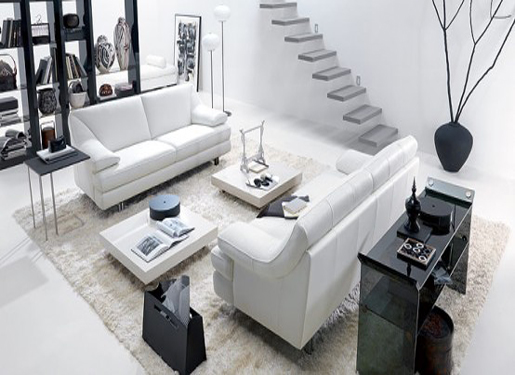 Living Room Design With Black And White Theme