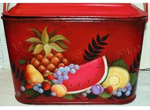 tin fruit lunch pail - Society Of Decorative Painters
