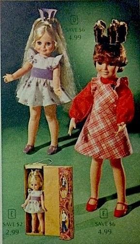 Girls Toys Dolls Crissy And Velvet Growing Hair Dolls 1975