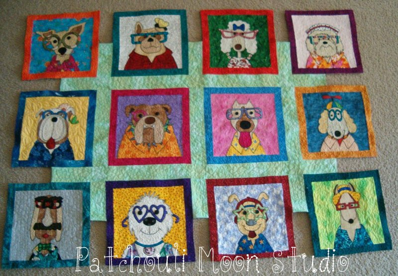 Patchouli Moon Studio Dazzling Dogs Quilt Stunning Dog Quilt Patterns