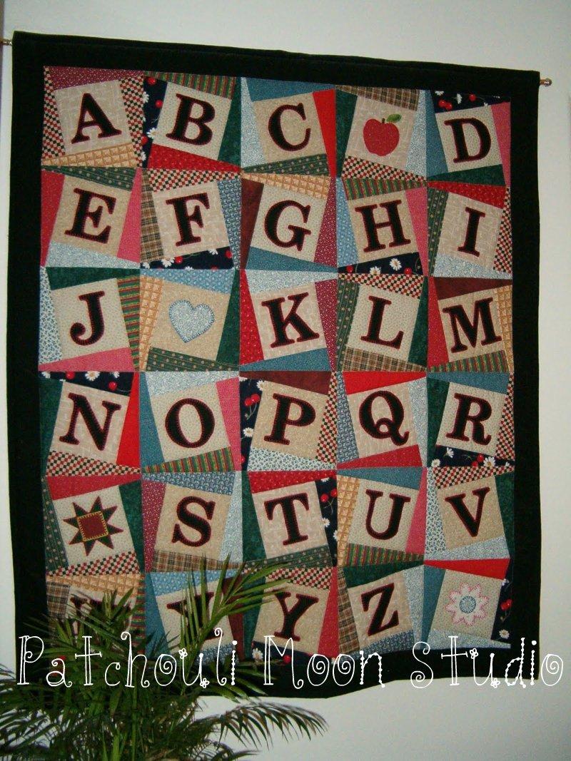 Patchouli Moon Studio Alphabet Quilt Pattern
