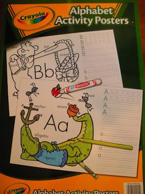 The Toddler Blog: Crayola Alphabet Activity Posters