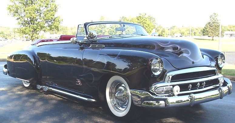 1950 to 1959 classic chevrolet cars and trucks 1951 chopped chevrolet convertiblefor sale in ohio. Black Bedroom Furniture Sets. Home Design Ideas