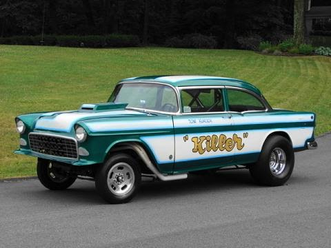 1950 to 1959 classic chevrolet cars and trucks 1955 chevrolet gasser drag race car. Black Bedroom Furniture Sets. Home Design Ideas