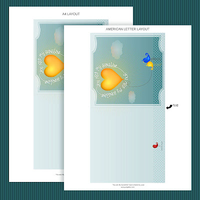 Layout for Sunshine card - click to enlarge
