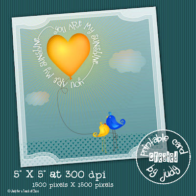 You are my sunshine card preview Click to enlarge