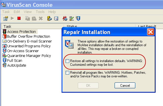 How to disable McAfee SecurityCenter