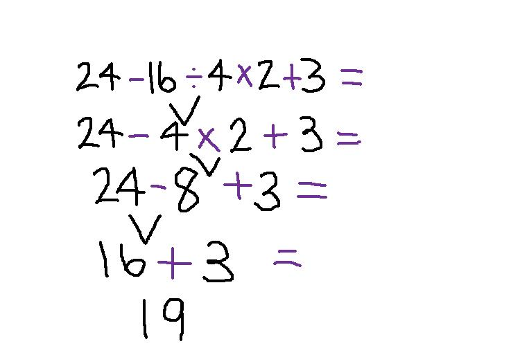 7 18 Order Of Operations