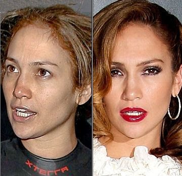 Celebrities+Without+Wearing+Makeup+jennifer+lopez