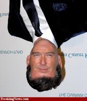 Pierce Brosnan+face+upside down