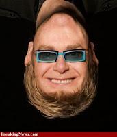 Elton John  funny+face+up+side+down