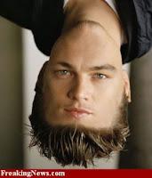 Di Caprio face+upside down