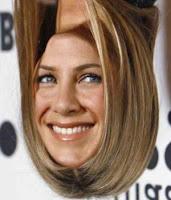 Jennifer Aniston face+upside down