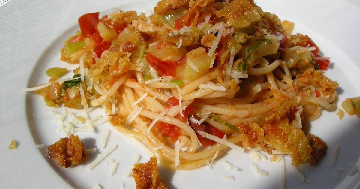 pastasciutta pasta 31 spaghetti mit pancetta. Black Bedroom Furniture Sets. Home Design Ideas