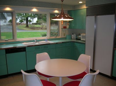 Jenn Ski 1963 Geneva Steel Kitchen Cabinets In Aquamarine
