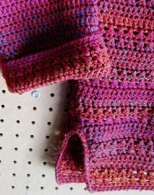 b18b349af L.A. Is My Beat  Top-Down Crocheted Cardigan