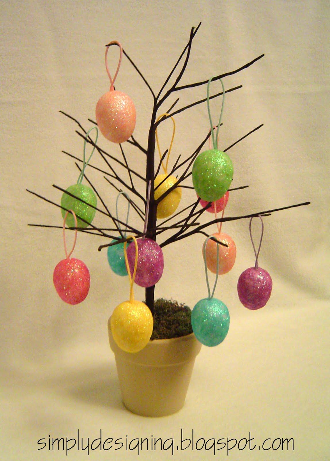 Dollar Store Pottery Barn Inspired Easter Egg Tree