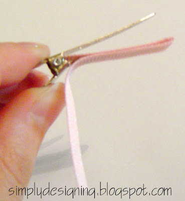 line+clip+03 Hair Flower Week - How to Line an Alligator Clip and a WINNER! 16