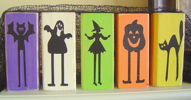 Wood+Silhouettes Halloween Blocks & Pumpkins 5