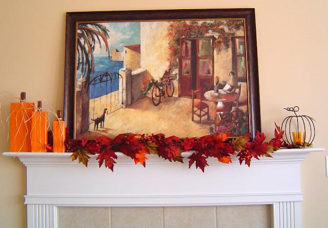 Mantel Thanksgiving Decor 7