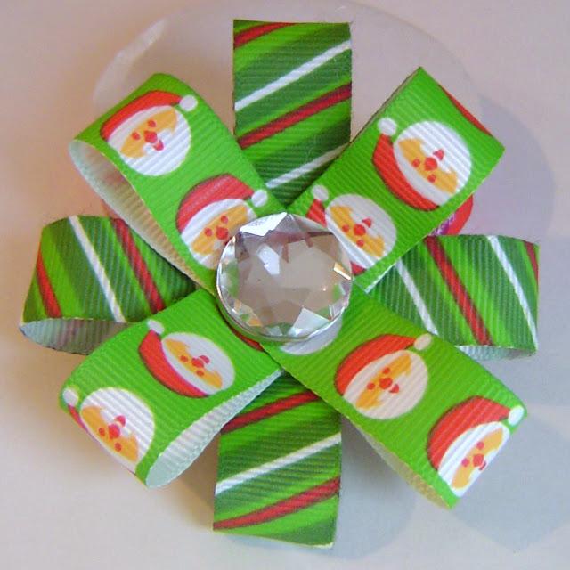 Santa+Bow Santa Hair Bows 3