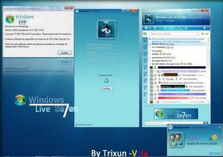 Skin Windows Se7en para MSN