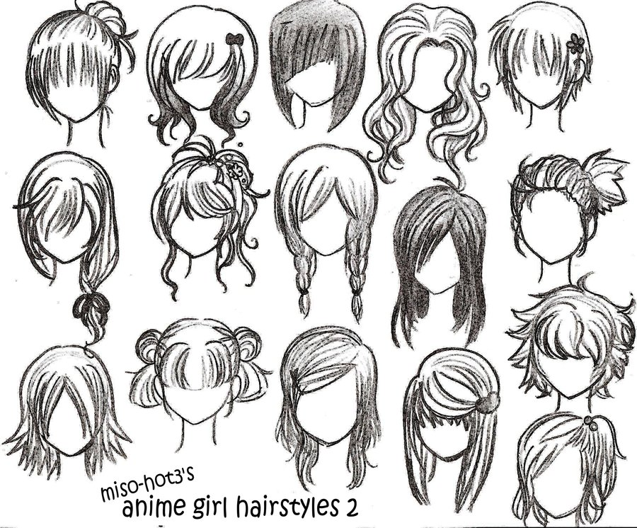 Anime Girl Hairstyles Drawings: California Girls